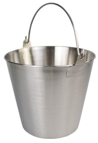 Bucket - Stainless Steel, 9Qt
